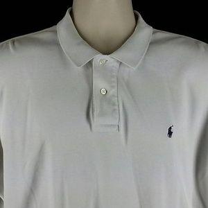 Ralph Lauren white polo golf shirt blue pony horse